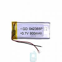 Аккумулятор GD 042365P 900mAh Li-ion 3.7V