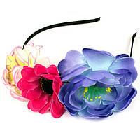 Ободок с цветами Розы и Ромашка
