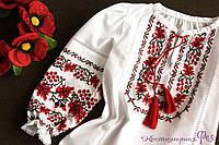 Вышиванка для девочки, вышитая блуза