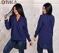 Блузка женская удлиненная шифон  размер 50-56, фото 1