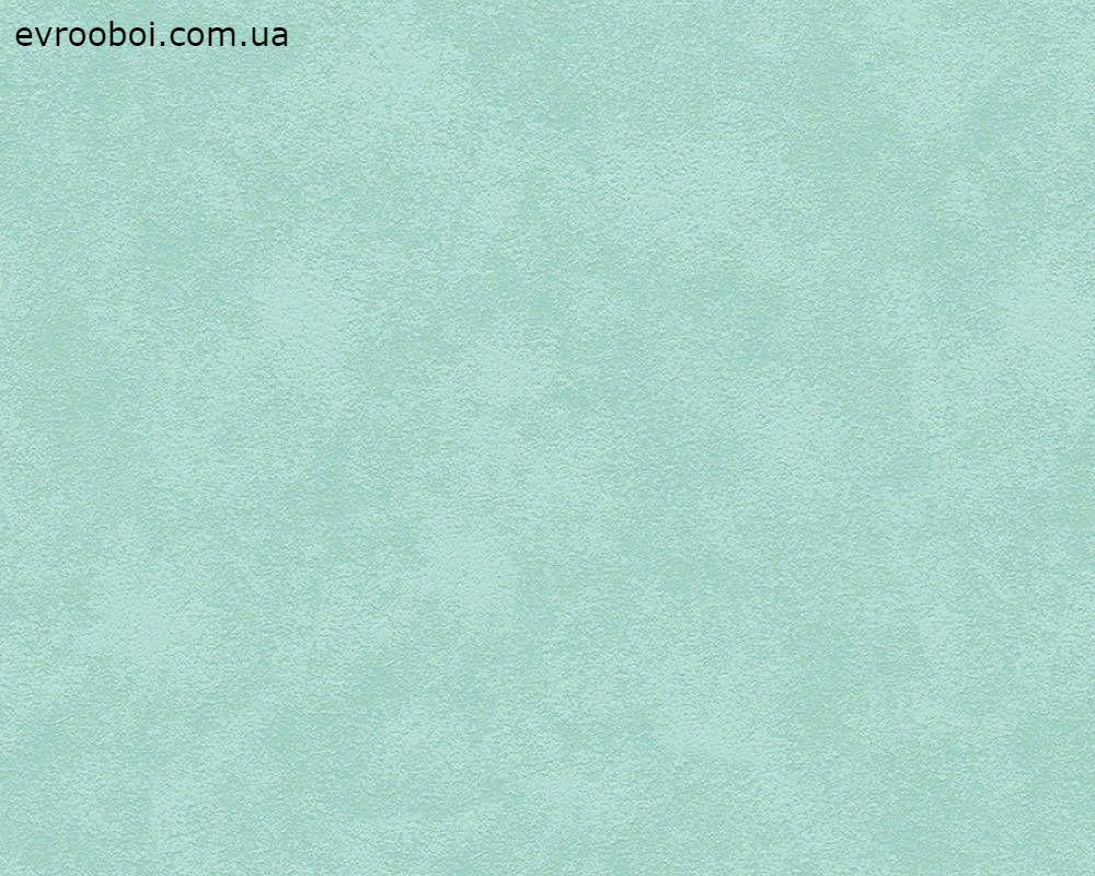 Одноколірні німецькі шпалери Skandinavian 343042, пастельні м'ятні, структуровані під дрібну штукатурку