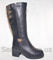 Сапоги женские зимние на устойчивом каблуке