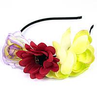 Обруч для волос с цветочками