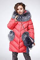 Теплое зимнее пальто для девочки Банни Nui Very