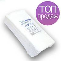 Одноразовые полотенца Doily 40х70см 40г/м2, для парикмахерских, гладкие/сетка, 50 шт в пластах