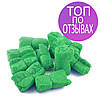 Бахилы 3 гр, одноразовые, медицинские 100 шт/ 50 пар, из полиэтилена зеленые