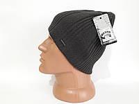 Зимняя вязаная мужская шапка Resail на флисе