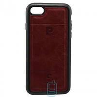 Чехол силикон-кожа Pierre Cardin iPhone 7 красный