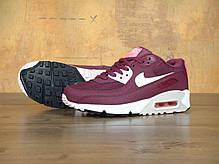 "Кроссовки женские Найк Nike Air Max 90 Essential ""Burgundy"". ТОП Реплика ААА класса., фото 2"