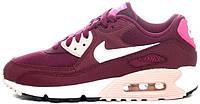 "Кроссовки женские Найк Nike Air Max 90 Essential ""Burgundy"""