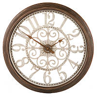 Часы ажурные (51 см) коричневые