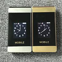 Стильный раскладной телефон Tkexun MOBILE А810 с внешним экраном на 2 SIM
