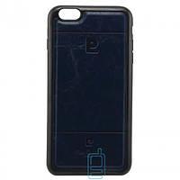 Чехол силикон-кожа Pierre Cardin iPhone 6 Plus синий