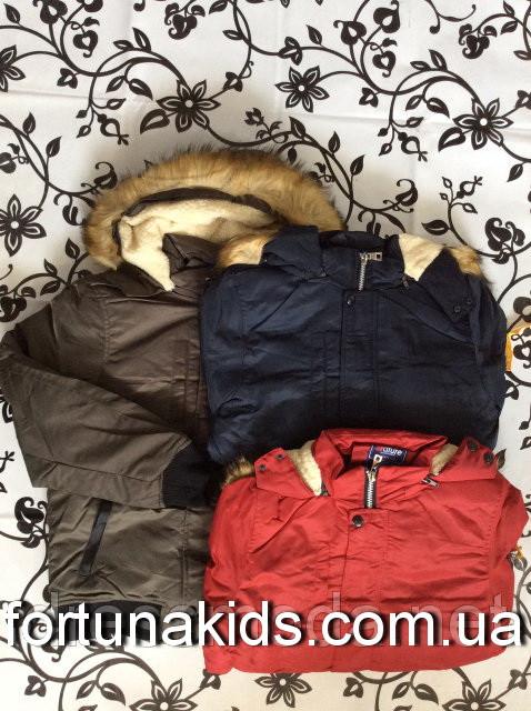 Куртка зимняя на меху  для мальчиков NATURE 10/11-16/17 лет