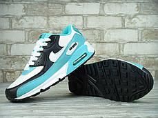Кроссовки женские Найк Nike Air Max 90 (mint&white). ТОП Реплика ААА класса., фото 3