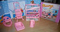 Мебель для кукол Gloria 9409 Детская - кроватка, коляска, горшок