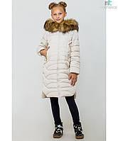 Пальто детское зимнее на девочку Ева Размер 122- 164