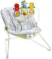 Детский шезлонг вибро,кресло-качалка Геометрия Fisher-Price