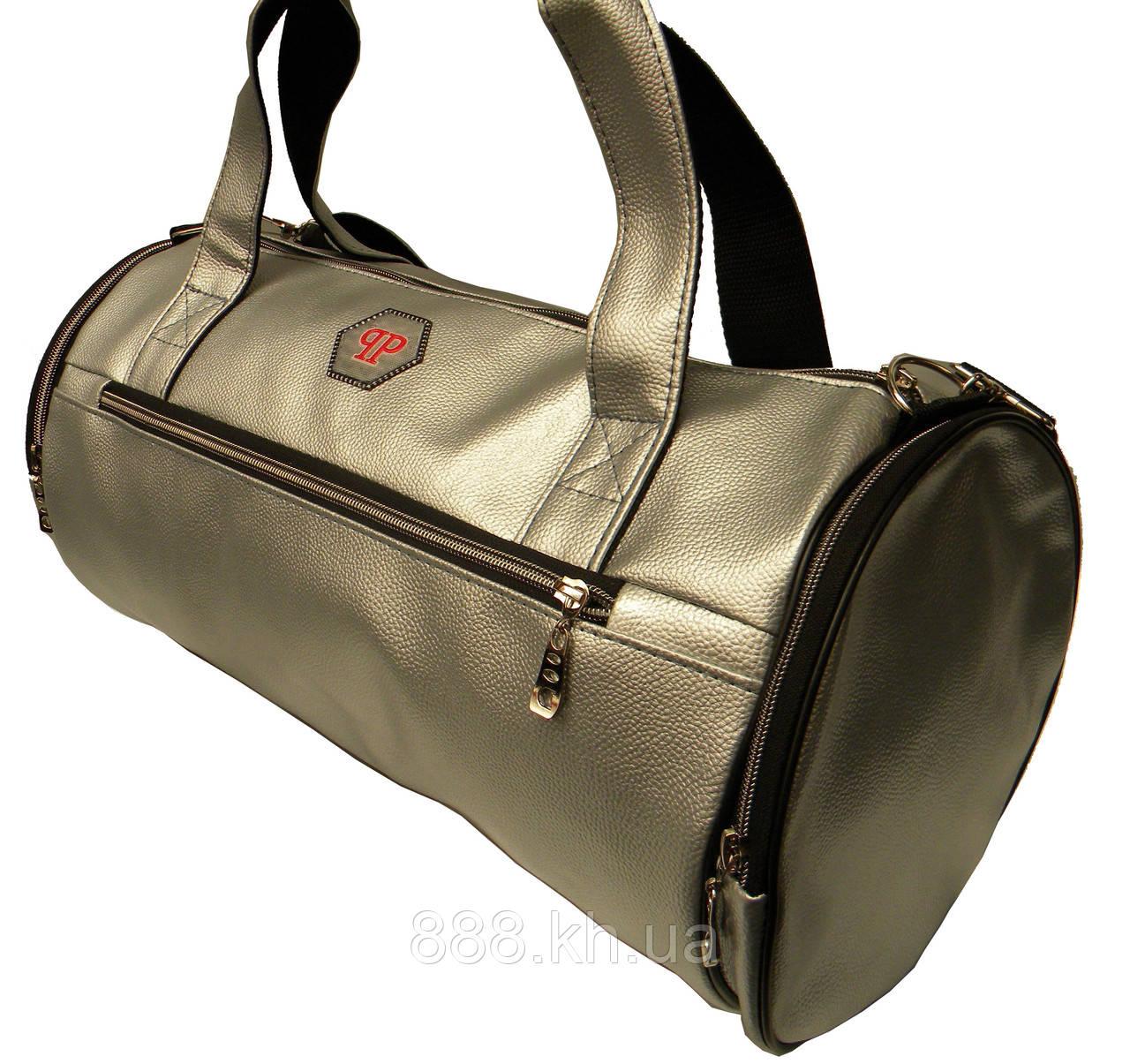 71e10528 Кожаная сумка бочка Philipp Plein, мужская сумка, женская сумка для  тренировок Филипп Плейн реплика