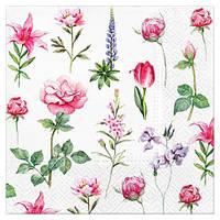 Салфетка Садовые цветочки 33х33 см