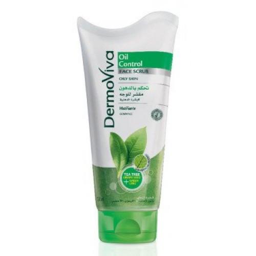 Скраб для лица DermoViva Oil Control для жирной и склонной к жирности кожи, 150мл, Дабур