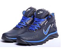 Кожанные мужские зимние ботинки  кроссовки Nike