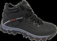 Кожанные мужские зимние ботинки  кроссовки Ecco экко  40 41 42 43 44 45