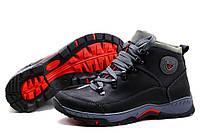 Кожанные мужские зимние ботинки  кроссовки Ecco экко модель Е01
