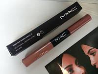 Матовый блеск для губ m.a.c ultra matte lip waterproof lip gloss (2 в 1)  Распродажа .
