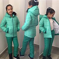 Зимний костюм для девочки на синтепоне и флисе