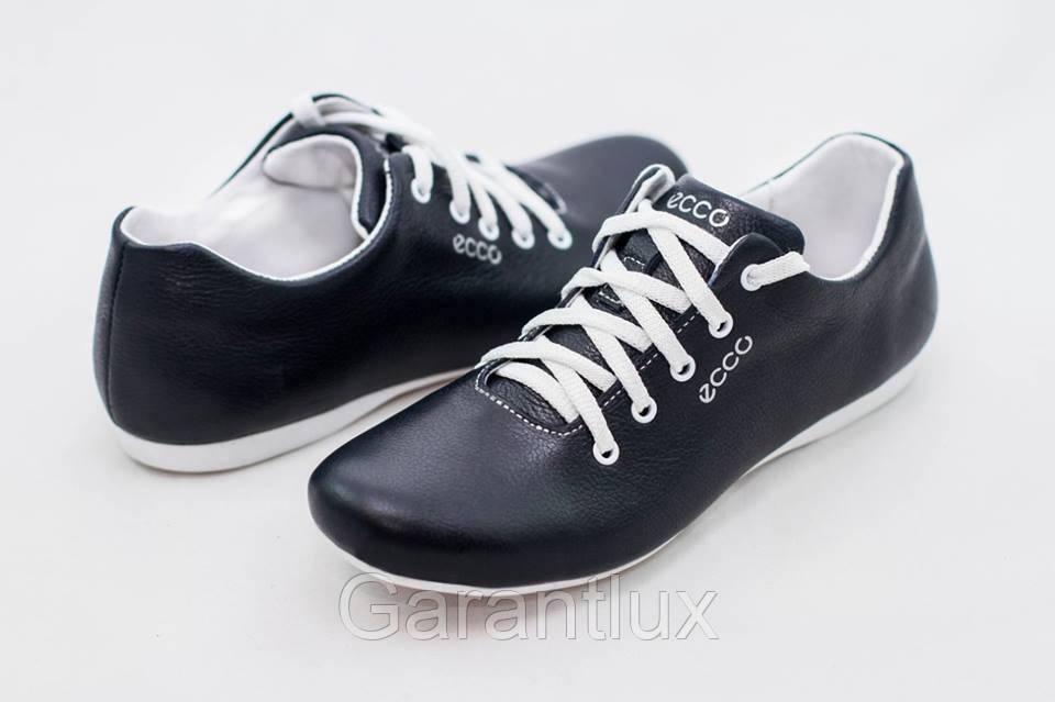 b65ba56e Мужские кожаные подростковые туфли кроссовки ECCO черные размеры 36 37 38  39 40