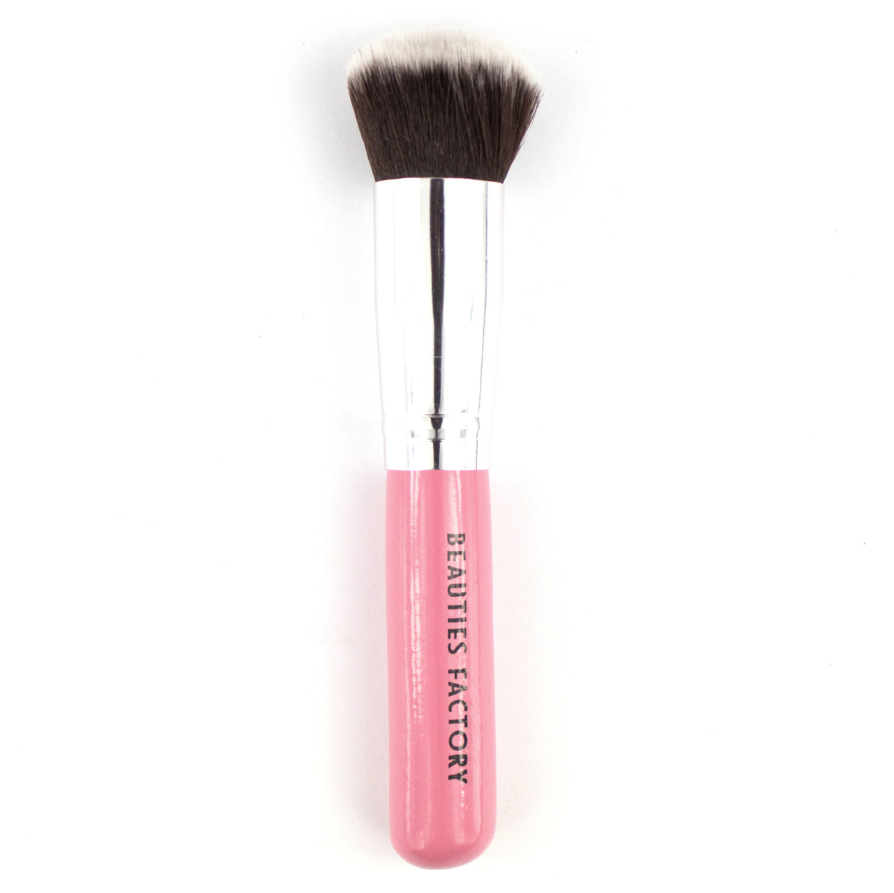Кисть для пудры Beauties Factory с розовой ручкой
