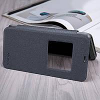 Кожаный чехол (книжка) Nillkin Sparkle Series для LG Q6 / Q6a / Q6 Prime M700 Черный