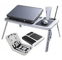 Подставка столик для ноутбука с охлаждением 2 USB кулерами E-Table LD09 купить в Украине
