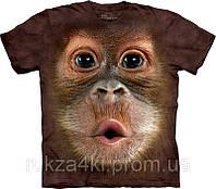 3D футболка The Mountain 103587 Big Face Baby Orangutan