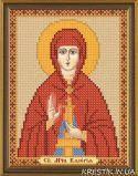 Ткань с рисунком для вышивки бисером  Св.Мч. Карелия (Валерия)