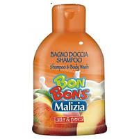 """Мalizia Шампунь - гель Bon Bons """"Latte Pesca"""", 500 мл"""