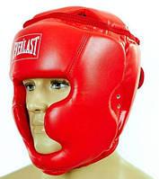 Шлем боксерский EVERLAST PU с полной защитой EV-4229-R красный