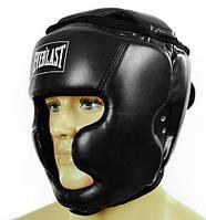 Шлем боксерский EVERLAST PU с полной защитой EV-4229-BK черный