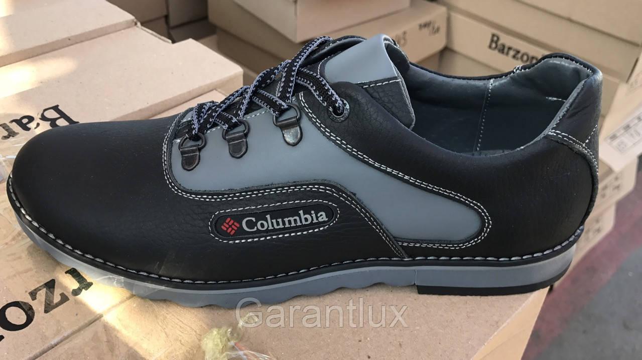 bebd43cfea412 Мужские кожаные туфли кроссовки Columbia коламбия черные 40, 41, 42, 43,  44, 45