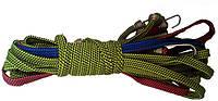 Резинка багажная с крючками, плоская ✓ 1.5м