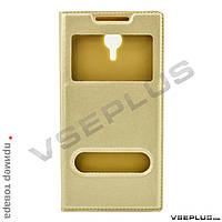 Чехол (книжка) Huawei Ascend P8 Lite, Book Cover Original, золотой