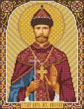 Ткань с рисунком для вышивки бисером Св. Царь Мч. Николай
