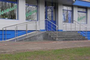 Ограждение входной лестницы
