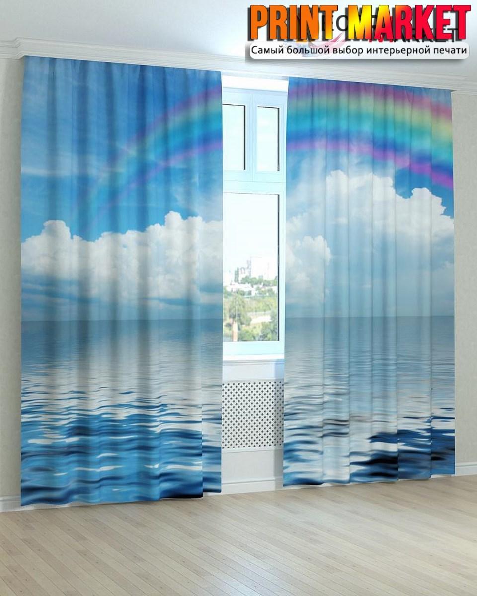 Фотошторы радуга над морем