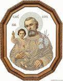 Набор для вышивки бисером Святой Иосиф с Исусом (сепия)