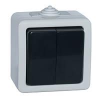 Выключатель SVEN Storm SE-72018 двойной проходной (переключатель) накладного типа серый UAH