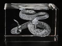 Фигурка Змея голограмма в хрустале