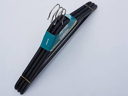 Плечики вешалки пластмассовые усиленные черные , 44  см