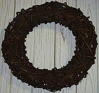 Венок из лозы коричневый 40 см